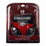 Headphone com Microfone C3 Tech Gamer Tricerix Plug P2 na caixa