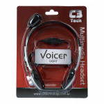 Headphone com Microfone C3 Tech Voicer Light na caixa