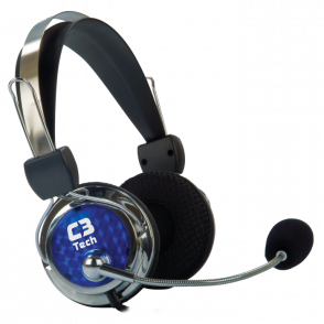 Headphone com Microfone C3 Tech Gamer Pterodax plug p2