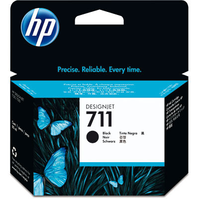 Cartucho HP 711 Preto Original CZ133A 38ML